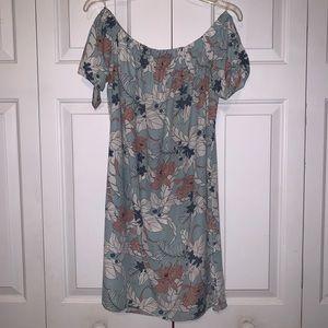 Dresses & Skirts - Light blue off the shoulder dress
